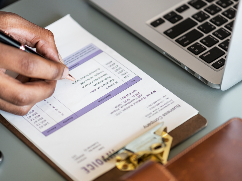 How to write an invoice for services rendered