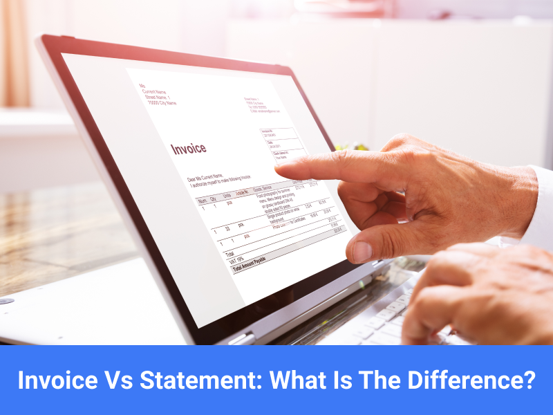 Difference between invoice and statement