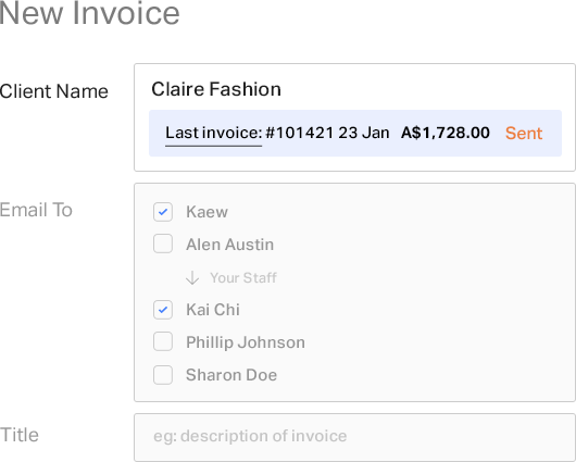 Smart invoicing feature 2