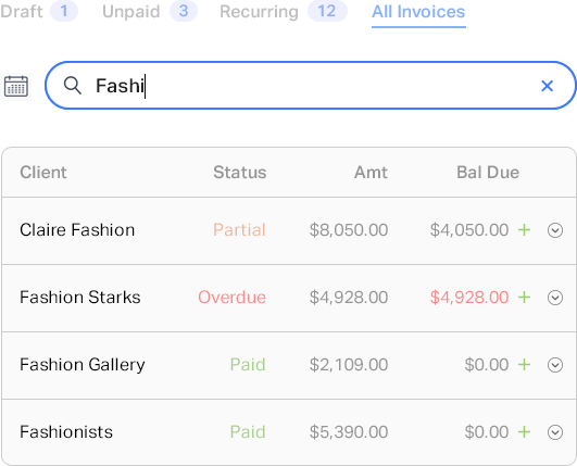 Smart invoicing feature 5